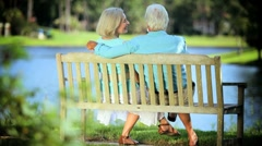 Senior Couple Enjoying Retirement Outdoors Stock Footage