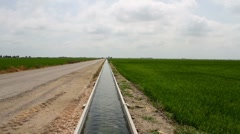 Irrigation ditch Stock Footage