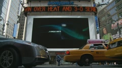 Timelapse Adverts & New York traffic - stock footage