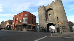 St Laurence Barbican's Gate in Drogheda, Ireland GFHD Stock Footage