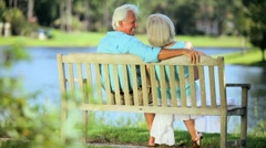Mature Couple Enjoying Healthy Outdoor Lifestyle Stock Footage