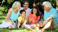 Three Generations of Caucasian Family Leisure Time Stock Footage