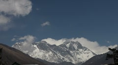 Timelapse Footage of Mount Everest 03 - stock footage
