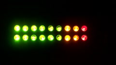 LED audio meters against a black background - Looping - stock footage