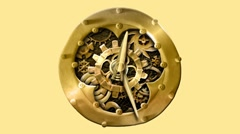 Animated old mythical clock with real alpha channel, loop. Stop motion Stock Footage