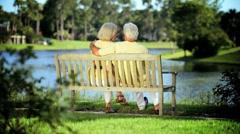 Content Senior Couple Enjoying Retirement Lifestyle - stock footage