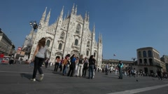 Timelapse Footage of a Church in Milan Italy 02 - stock footage