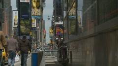 NYC scene (siren noise) Stock Footage
