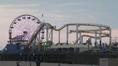 Santa Monica Pier Timelapse - stock footage