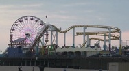 Stock Video Footage of Santa Monica Pier Timelapse