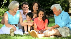 Three Generations Enjoying Time Together Stock Footage