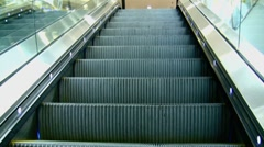 Stock Video Footage of escalator