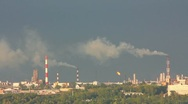 Stock Video Footage of refinery plant - timelapse