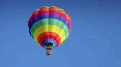 Hot air  ballon at the European Ballon Festival at Igualada-Spain Stock Footage
