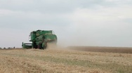 Stock Video Footage of Combine harvester
