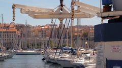 Marseille harbour port vieux Stock Footage