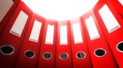 Office Binders Circle (Loop) Stock Footage