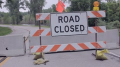 Stock Video Footage of Flood Signs