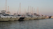 Stock Video Footage of Yachts in harbour
