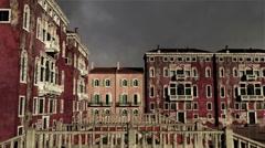 Venice Buildings Clouds Timelapse 07 Stock Footage