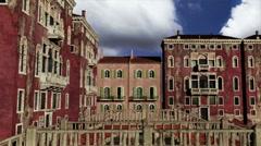 Venice Buildings Clouds Timelapse 09 pan Stock Footage