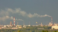 Stock Video Footage of refinery plant