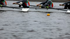 race on rowing - stock footage