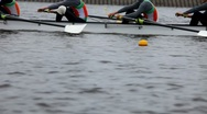 Stock Video Footage of race on rowing