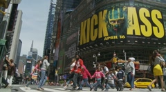 Kick Ass April 16 (NYC) Stock Footage