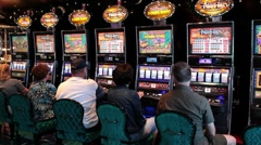 Casino slot machine people ship P HD 1296 - stock footage