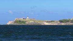 El Morro Fortress - San Juan Sea Bay - Lighthouse Stock Footage