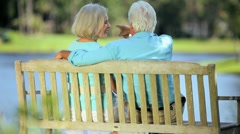 Senior Couple Happy in Each Others Company Stock Footage