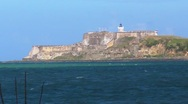 El Morro Fort - San Juan Sea Bay - Lighthouse Stock Footage