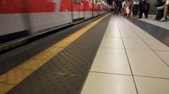 Rush hour metro - stock footage