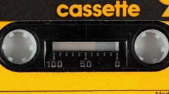 Cassette tape vintage music Stock Footage