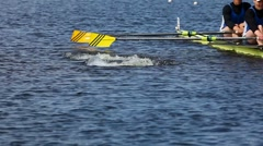 Start of the race on rowing Stock Footage
