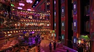 Cruise ship atrium elevators P HD 0990 Stock Footage