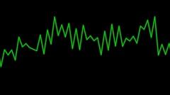 Audio graphic Stock Footage
