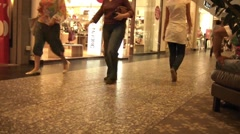 Crowd At The Mall Time Lapse Stock Footage