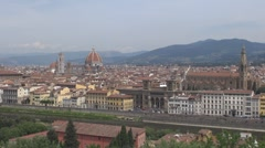 Aerial view of National Library, Florence, Italy Stock Footage