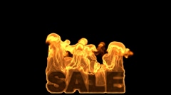 Fire Sale 01 hd1080 Text Stock Footage