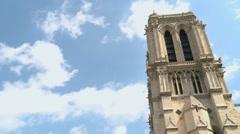 Notre-Dame de Paris Timelapse 1 Stock Footage