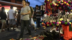 Thai Ethnic Handicrafts Market Stock Footage