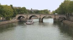 Paris - pleasure boat - Bateaux-mouches 1 Stock Footage
