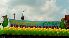 Cucumber Festaval in Suzdal Stock Footage
