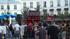 Rave party paris Stock Footage