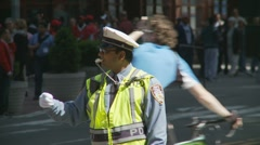 Directing traffic in New York City - stock footage