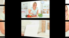 Montage of a woman in different situations Stock Footage
