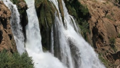 Duden waterfall in Antalya, Turkey Stock Footage