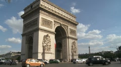 Paris - Arc de triomphe 1 Stock Footage